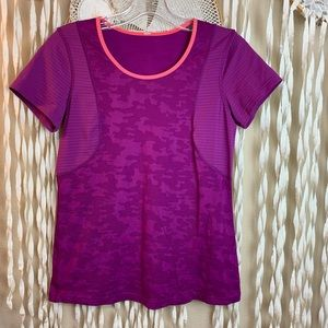 Lululemon Short Sleeve Base Layer Sports Top